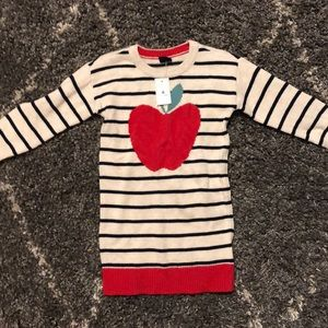 NWT-Adorable baby gap sweater dress-*apple*